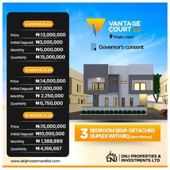 3 Bedroom Semi Detached Duplex with Bq, Bogije Lagos, Bogije, Ibeju Lekki, Lagos, Semi-detached Duplex for Sale