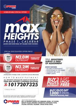 Max Heights Phase 1, Along Akim Akim Road, Off Calabar-ikom Highway, Calabar, Cross River, Residential Land for Sale