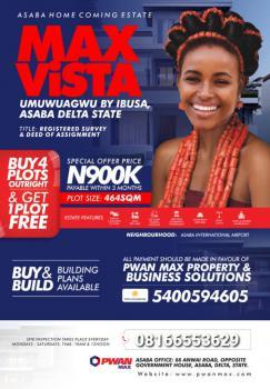 Max Vista Estate Asaba Buy 4 Get 1 Free, Asaba, Delta, Mixed-use Land for Sale