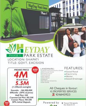 Land, Shapati, Heyday Park Estate Phase 1, Bogije, Ibeju Lekki, Lagos, Residential Land for Sale