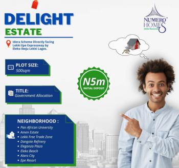 Dry Plots of Land in a Serene Location, Buy and Build., Idera Scheme, Eleko, Ibeju Lekki, Lagos, Residential Land for Sale