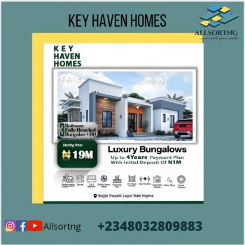 Off Plan 3 Bedroom Fully Detached Bungalow Plus Bq, Key Haven Homes, Bogije, Ibeju Lekki, Lagos, Detached Bungalow for Sale