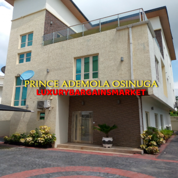 Fully Detached House on 3 Floors + Rooftop Lounge., Parkview, Ikoyi, Lagos, Detached Duplex for Sale