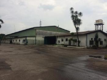 Commercial Land Measuring 100,000 Sqm with Warehoouses, Off Surulere Avenue, Ogba Industrial Area, Ogba, Ikeja, Lagos, Warehouse for Sale