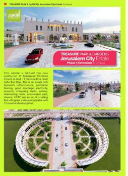 Estate Land, Treasure Park and Gardens Phase 4, Jerusalem Extension, Simawa, Ogun, Residential Land for Sale