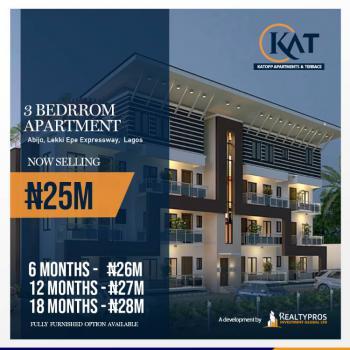 Luxury 3 Bedroom Apartment in Good Location, Kattop Apartments, Flourish Gate Gardens Estate, Abijo, Lekki, Lagos, Block of Flats for Sale