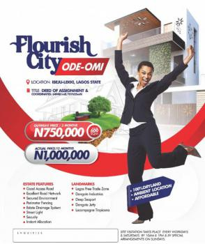100% Affordable Dryland Ambient Location, Flourish City, Ode Omi, Ibeju Lekki, Lagos, Residential Land for Sale