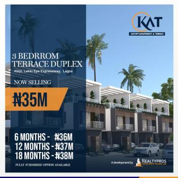 Luxury 3 Bedrooms Terraced Duplex in Good Location, Kattop Apartments, Flourish Gate Gardens Estate, Abijo, Lekki, Lagos, Terraced Duplex for Sale