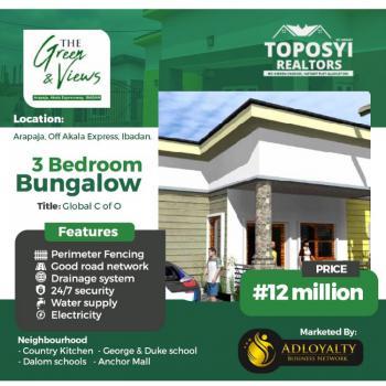 Luxury 3 Bedroom Bungalow, Arapaja Off Akala Express, Ibadan, Oyo, Detached Bungalow for Sale