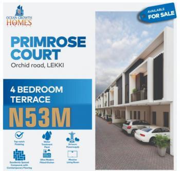 Luxury 4 Bedroom Terrace Duplex, Orchid Road Opposite Chevron, Lekki, Lagos, Terraced Duplex for Sale