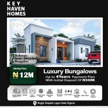 Luxury 2 Bedroom Semi Detached Bungalow, Shapati Area Off Lekki Epe Express Way. Key Heaven Homes, Bogije, Ibeju Lekki, Lagos, Semi-detached Bungalow for Sale