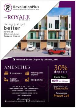 4 Bedroom Terrace Duplex in Good Location (with Payment Plan), Royale Terraces, Before Chevron Toll Gate, Ologolo, Lekki, Lagos, Terraced Duplex for Sale
