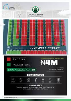 Premium Plots Available. 27 Plots Left, Livewell Estate, Otolu, Ogogoro, Ibeju Lekki, Lagos, Residential Land for Sale