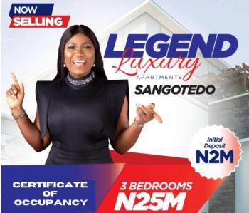 Luxury 3 Bedrooms Apartment, Via Jonath Hotel, Sangotedo, Ajah, Lagos, Terraced Duplex for Sale