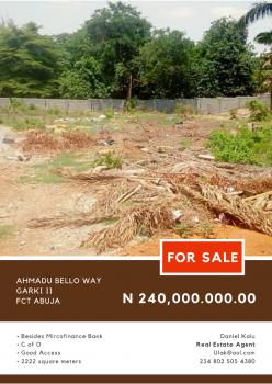 Affordable Residential Plots, Ahmadu Bello, Garki, Abuja, Residential Land for Sale