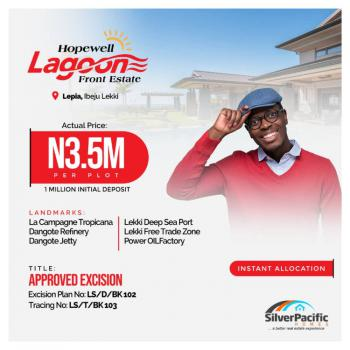 Lagoon Front Land with Excision Title, Lepia, Ibeju Lekki, Lagos, Residential Land for Sale