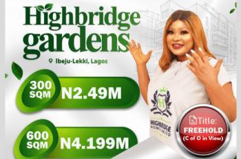 Gated and Verified Estate Land, Behind Hfp Paving Stones Near Pan Atlantic University, Eleko, Ibeju Lekki, Lagos, Residential Land for Sale