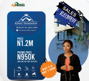 Land, Kings Dominion, Akodo Ise, Ibeju, Lagos, Residential Land for Sale