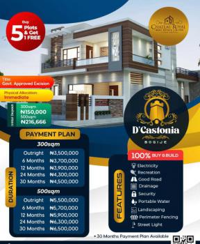 Luxury Government Approved Excision, D'castonia Estate, Bogije, Ibeju Lekki, Lagos, Mixed-use Land for Sale