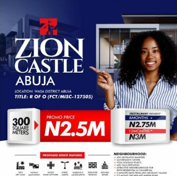 100% Dry Land with Instant Allocation, Zion Castle Was District Abuja, Wasa, Apo, Abuja, Mixed-use Land for Sale