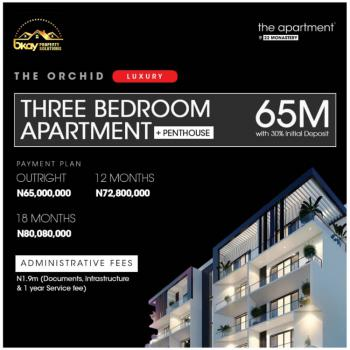 Exceptionally Designed 3 Bedroom C of O Apartment with Penthouse, Manastery Road, Novare Mall Shoprite, Sangotedo, Ajah, Lagos, Block of Flats for Sale
