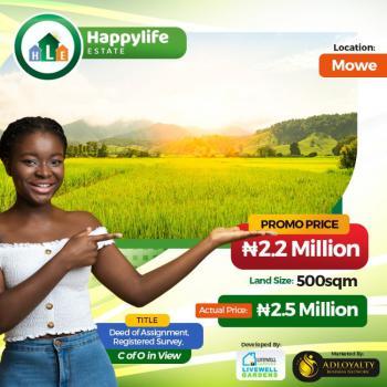 Land, Beside Rccg, Happylife Estate, Mowe Ofada, Ogun, Residential Land for Sale