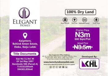 Land, Elegant Homes Kaiyetoro Town, Lekki-epe Expressway, Eleko, Ibeju Lekki, Lagos, Mixed-use Land for Sale