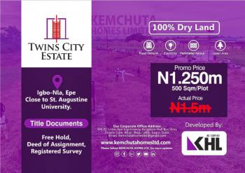 Dry Plot of Land, Close to St. Augustine University, Igbonla, Epe, Lagos, Residential Land for Sale