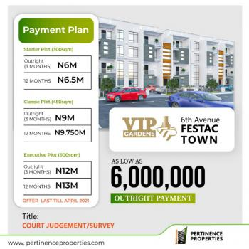 Land with Court Judgement Title, Vip Gardens Estate6th Avenue, Festac, Amuwo Odofin, Lagos, Mixed-use Land for Sale
