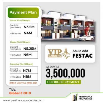 Global C of O Land Title, Vip Gardens Estate Festac, Abule-ado, Amuwo Odofin, Lagos, Residential Land for Sale