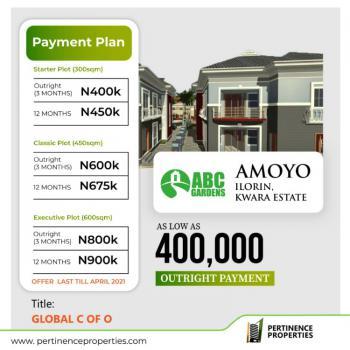 Global C of O Land, Abc Garden Estate Amoyo, Ilorin West, Kwara, Residential Land for Sale