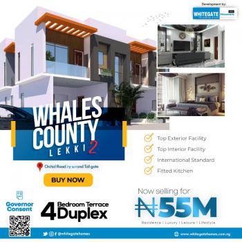 Luxury 4 Bedrooms Terraced Duplex in Good Location, Whales County Estate, Orchid Road, Ikota, Lekki, Lagos, Terraced Duplex for Sale