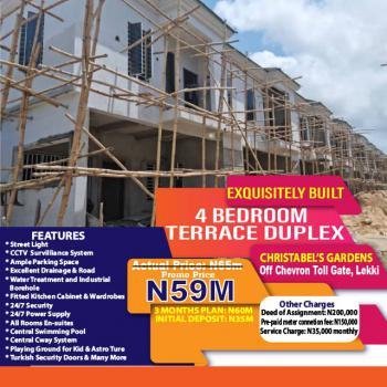 Exquisite 3 Bedrooms Terraced Duplex, Christabels Gardens, Ikota, Lekki, Lagos, Terraced Duplex for Sale