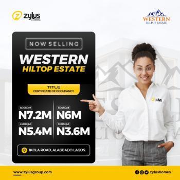 C of O Residential Land, Western Hlitop Estate, Ikola Road, Alagbado, Ifako-ijaiye, Lagos, Residential Land for Sale