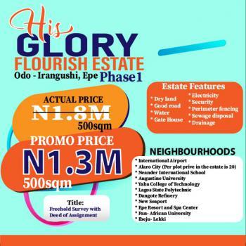 Land, His Glory Flourish Estate Phase 1, Behind Yabatech, Epe, Lagos, Residential Land for Sale