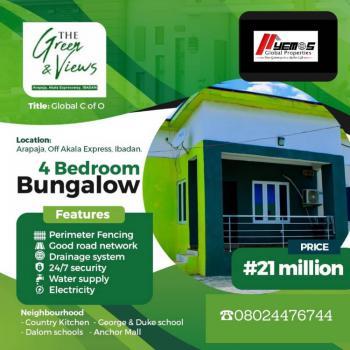 4 Bedroom Bungalow, Arapaja,off Akala, Ibadan, Oyo, Detached Bungalow for Sale