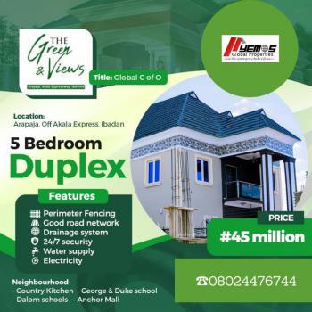 5 Bedroom Duplex, Arapaja,off Akala, Ibadan, Oyo, Detached Duplex for Sale