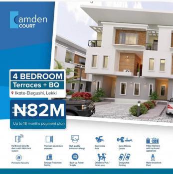 Luxury Four Bedroom Terrace with Bq, Off Gbangbanla Street, Ikate Elegushi, Lekki, Lagos, Terraced Duplex for Sale