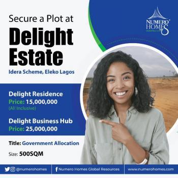 600sqm Estate Land, Eleko, Ibeju Lekki, Lagos, Residential Land for Sale