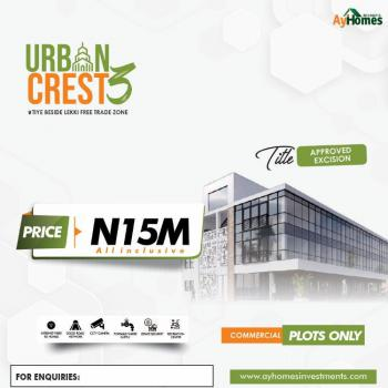 Land with Approved Excision Title, Urban Crest 3 Estate Beside, Lekki Free Trade Zone, Lekki, Lagos, Commercial Land for Sale