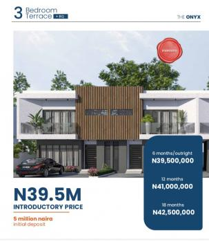 Tastefully Finished 3 Bedroom Terrace with Bq, The Onyx, Off Abraham Adesanya, Ogombo, Ajah, Lagos, Terraced Duplex for Sale