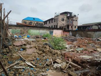 a Full Plot of Land at a Corner Piece, Ijeshatedo, Surulere, Lagos, Residential Land for Sale
