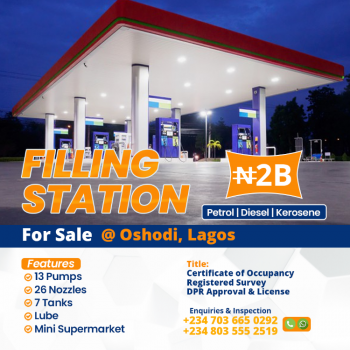 a Spacious Filling Station, Ladipo Bus Stop, Oshodi, Lagos, Filling Station for Sale