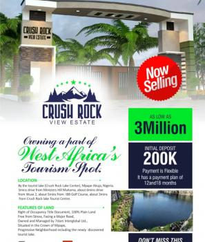 Plots of Land Close to Tourist Centre with R of O, By The Tourist Lake ( Crush Rock Lake  Center ), Mpape, Abuja, Residential Land for Sale
