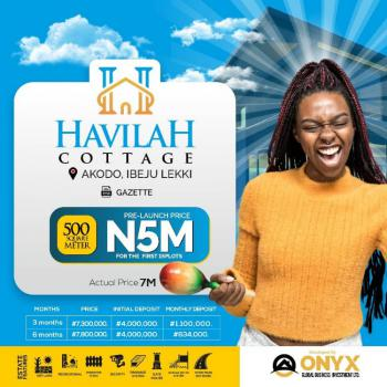 a Land with Gazette As Title, What Are You Waiting for? Hurry!!!, Havilah Cottage, Akodo Ise, Ibeju Lekki, Lagos, Residential Land for Sale