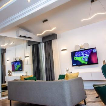 Exquisite & Premium 1 Bedroom Apartment with Pool, Gym and Balcony., Off Admiralty Road, Lekki Phase 1, Lekki, Lagos, Flat / Apartment Short Let