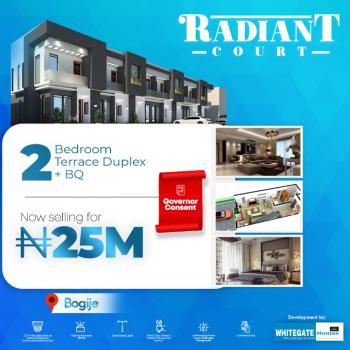 Luxury 2 Bedrooms Terrace with a Bq, Radiant Court Estate, Desa Town, Bogije, Ibeju Lekki, Lagos, Terraced Duplex for Sale