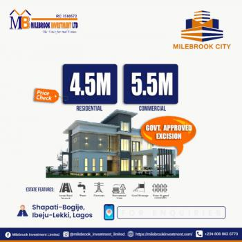 Government Approved Excision Land, Milebrook City, Bogije, Ibeju Lekki, Lagos, Mixed-use Land for Sale