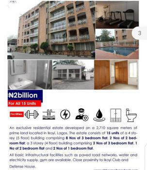 5-floor Exclusive Estate of 15 Units of Luxury Flats on 2,700sqm, Ikoyi, Lagos, Block of Flats for Sale