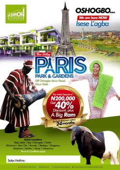 1 Plot of Land in Serene Environment, Buckingham and Paris Park & Gardens, Ede North, Osun, Mixed-use Land for Sale